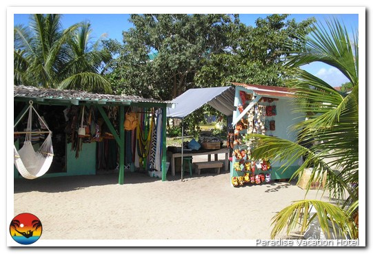 Souvenir shop on main street in Placencia, Belize by Alan Stamm